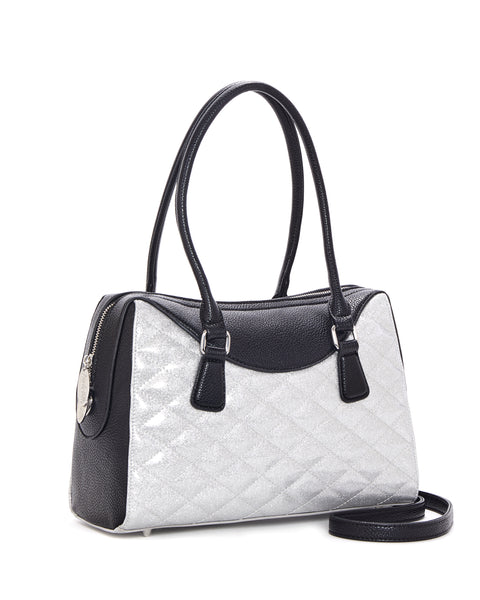 Route 66 Tote Black Matte and Silver Thunderstruck Sparkle - Mini Atomic Totes