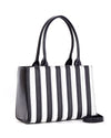 Bad Reputation Tote Black and White Matte - Mini Atomic Totes