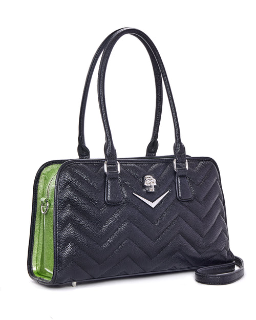 Hellraiser Tote Black and Emerald City Sparkle - Mini Atomic Totes
