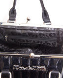 V8 Kiss Lock Black Matte with Midnight Sparkle - Mini Atomic Totes