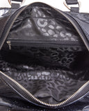 Skull and Roses Tote Black Matte with Midnight Sparkle - Mini Atomic Totes