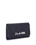Skull and Roses Black Matte Wallet - Mini Atomic Totes