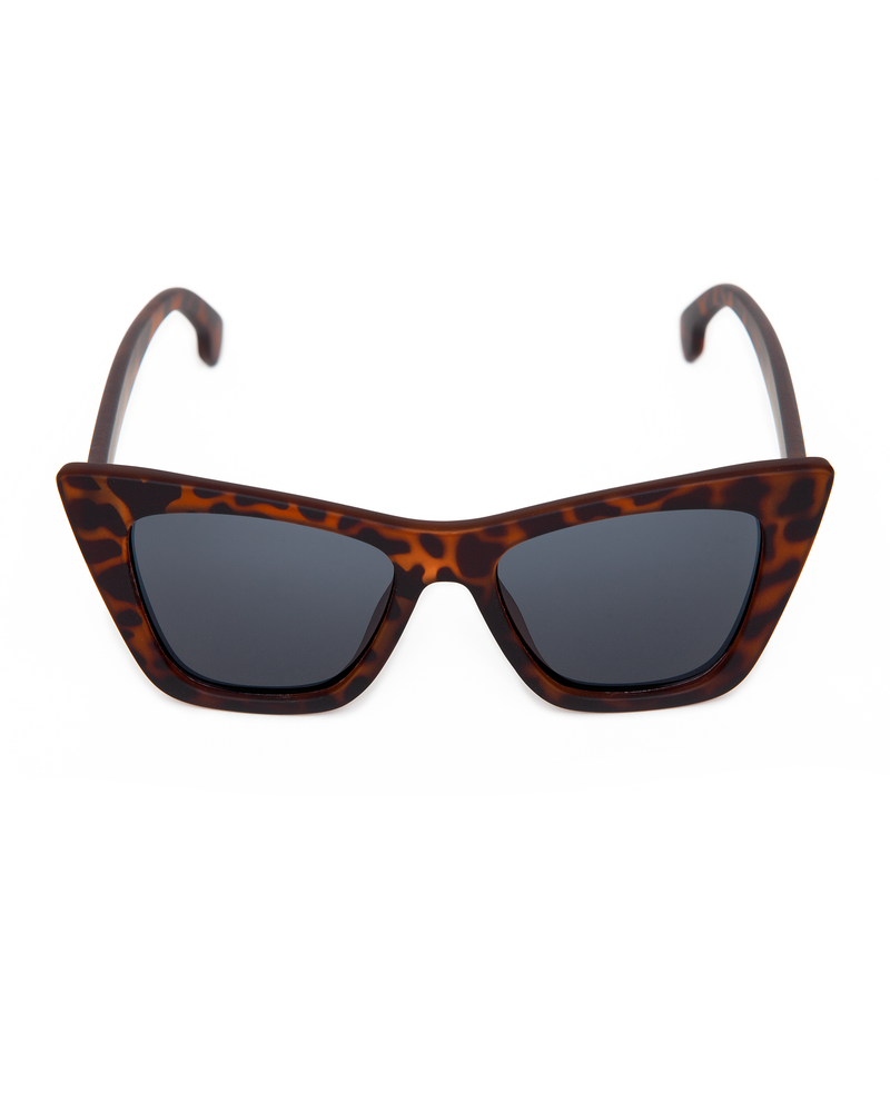 Bewitched Sunglasses Matte Tortoise Frame with Black Smoke Lens - Mini Atomic Totes