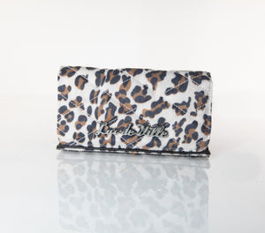 Black Dahlia Wallet Brown Leopard - Mini Atomic Totes