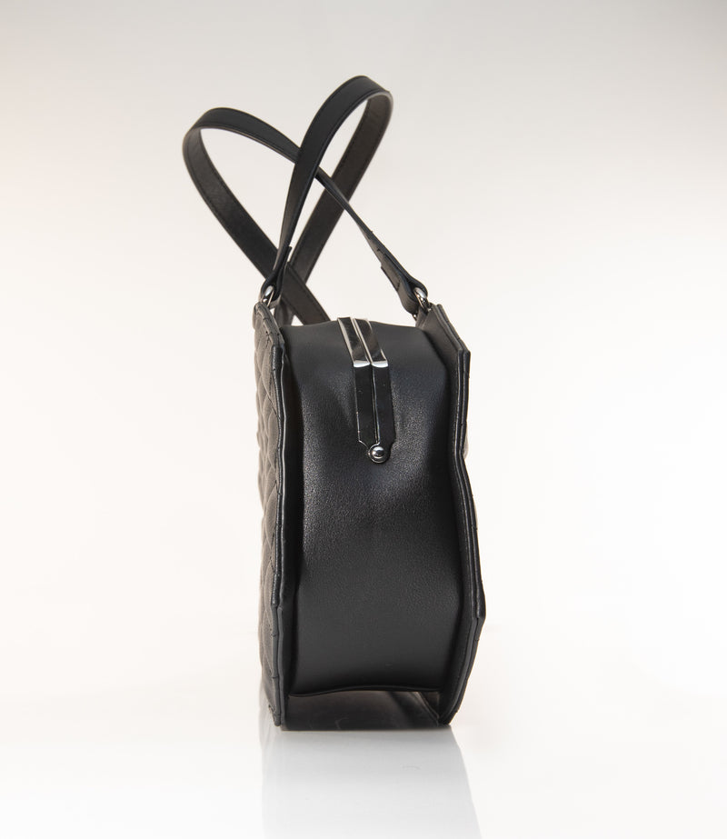 Coffin Kiss Lock Handbag Black Matte - Mini Atomic Totes