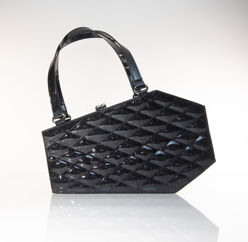 Coffin Kiss Lock Midnight Sparkle - Mini Atomic Totes
