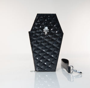 Coffin Wristlet Wallet Midnight Sparkle - Mini Atomic Totes