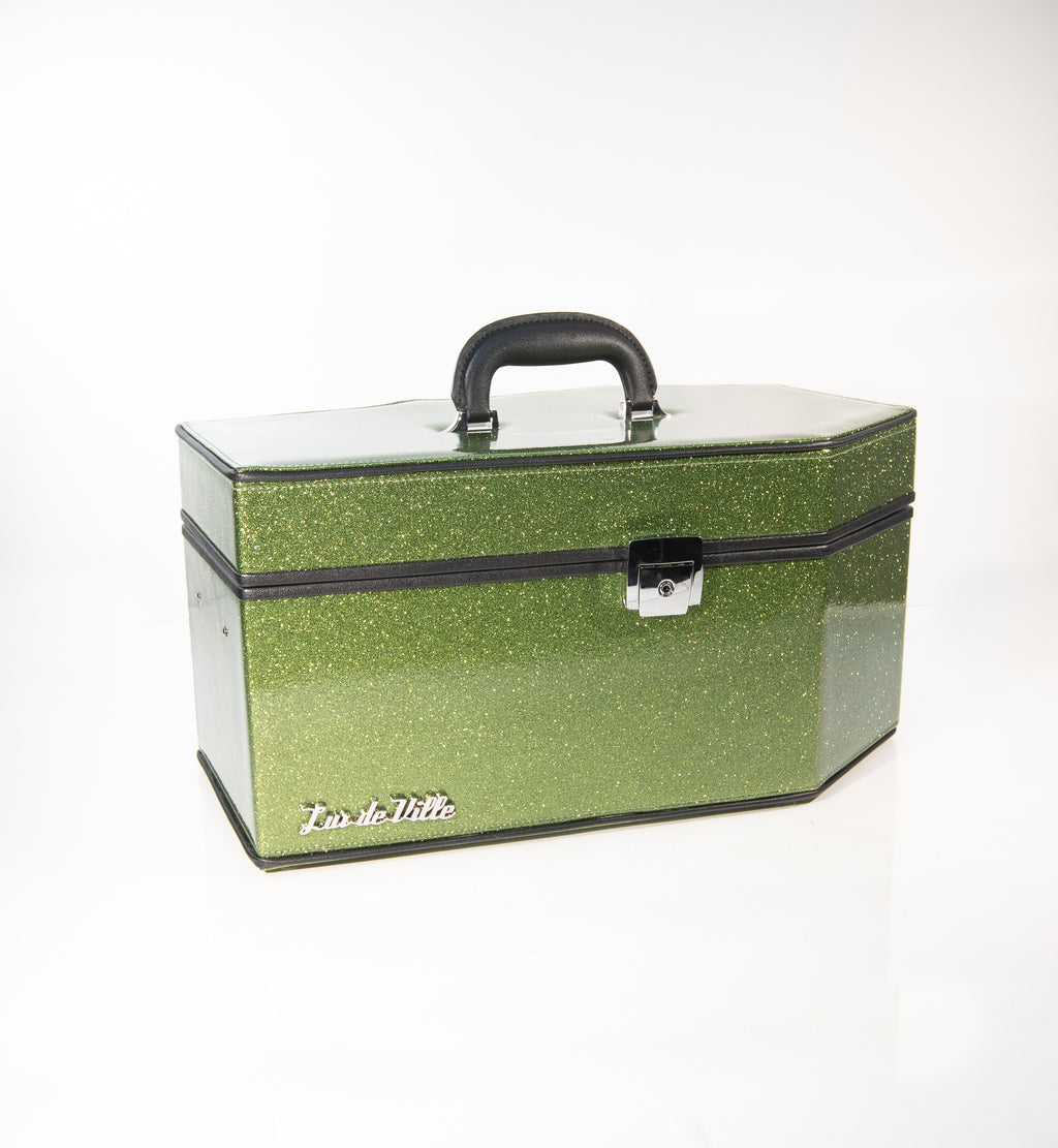 Super Crypt Coffin Case Martini Green Sparkle - Mini Atomic Totes