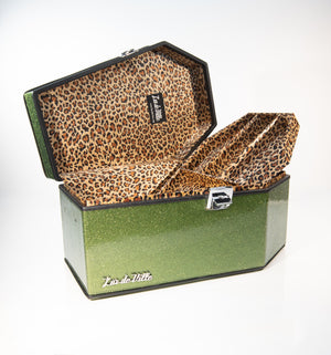 Super Crypt Coffin Case Martini Green Sparkle