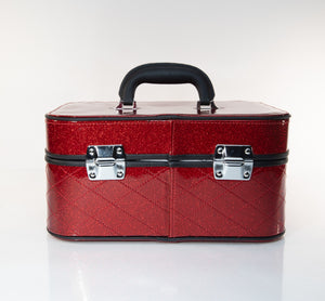 GoGo Vanity Case Crimson Red Sparkle - Mini Atomic Totes