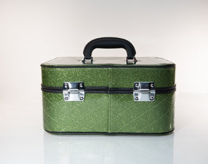 Go Go Vanity Case Martini Green Sparkle - Mini Atomic Totes