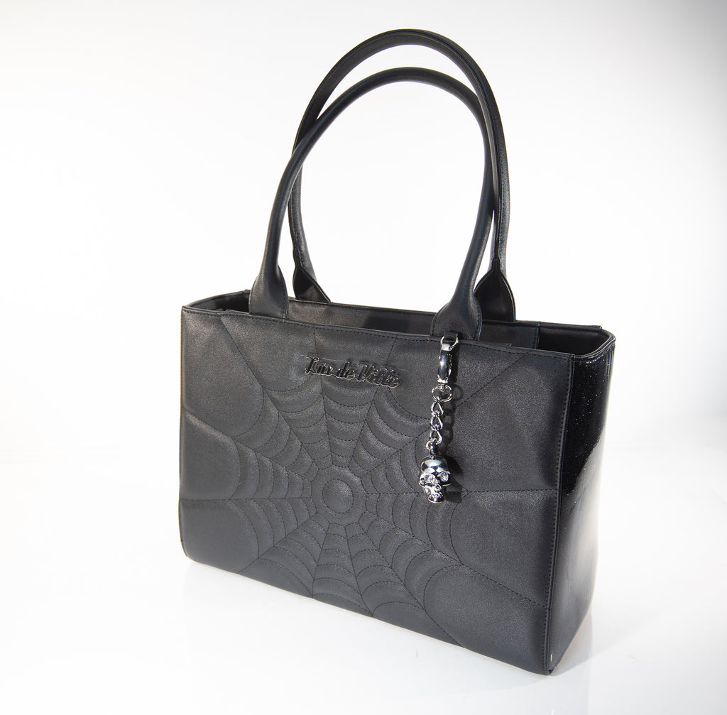 Itsy Bitsy Tote Black and Midnight Sparkle - Mini Atomic Totes