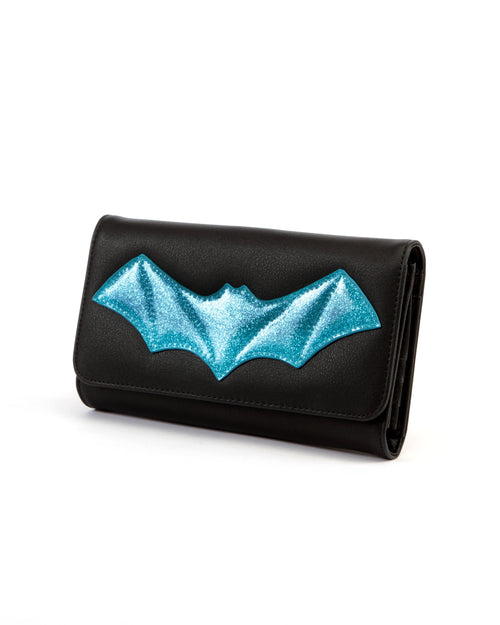 After Midnight Wallet Black and Villain Blue Sparkle