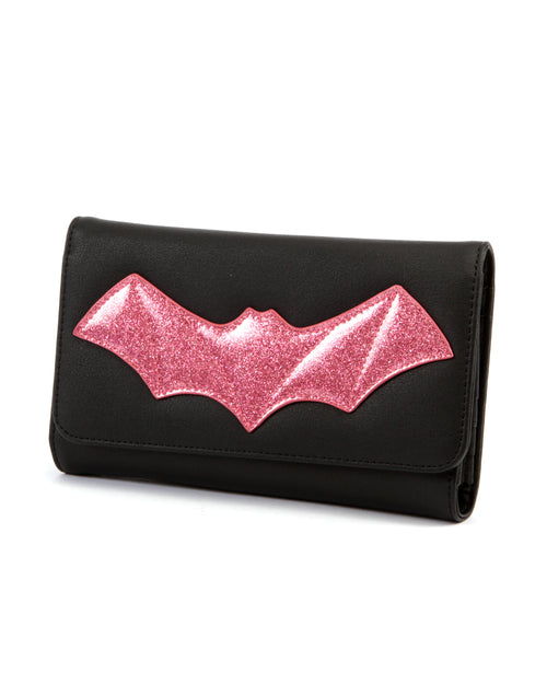 After Midnight Wallet Black and Pink Bubbly Sparkle