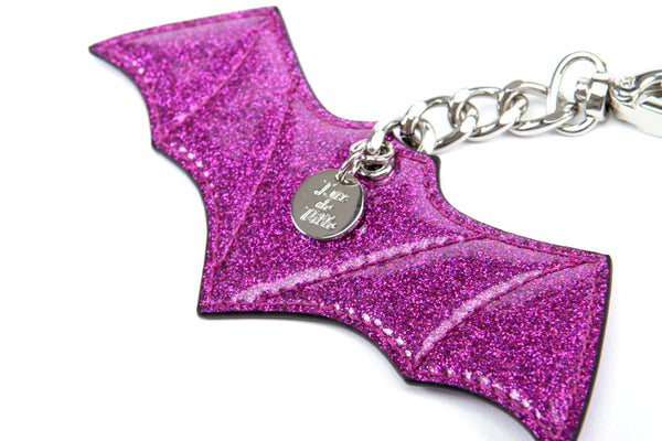 Sparkle Vinyl Bat Bauble Purple - Mini Atomic Totes