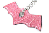 Sparkle Vinyl Bat Bauble Pink - Mini Atomic Totes