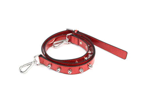 Studded Strap Red Sparkle - Mini Atomic Totes