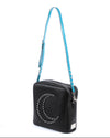 Studded Strap Blue Sparkle - Mini Atomic Totes