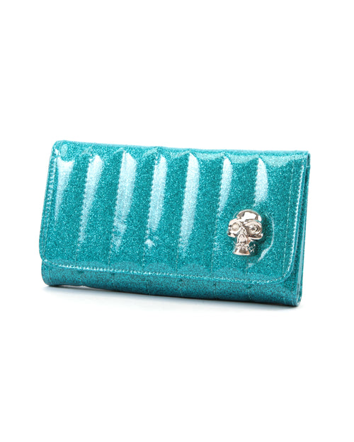Lady Vamp Wallet Villain Blue Sparkle - Mini Atomic Totes