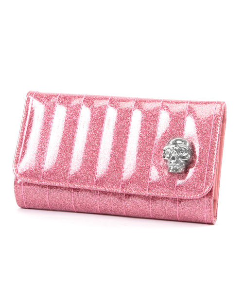 Lady Vamp Wallet Pink Bubbly Sparkle