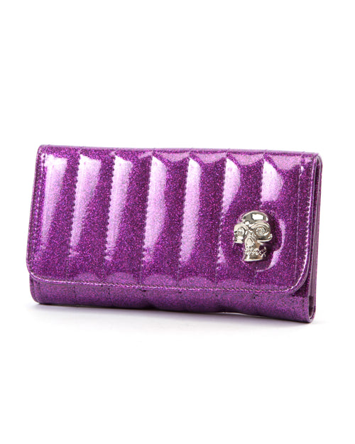 Lady Vamp Wallet Electric Purple Sparkle