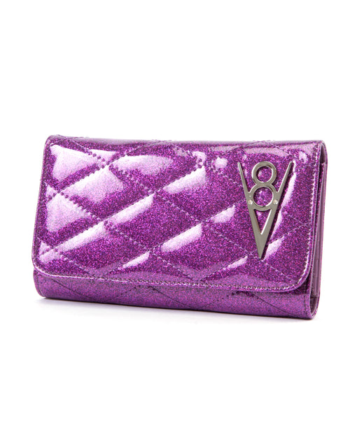 Hot Rod Wallet Electric Purple Sparkle - Mini Atomic Totes