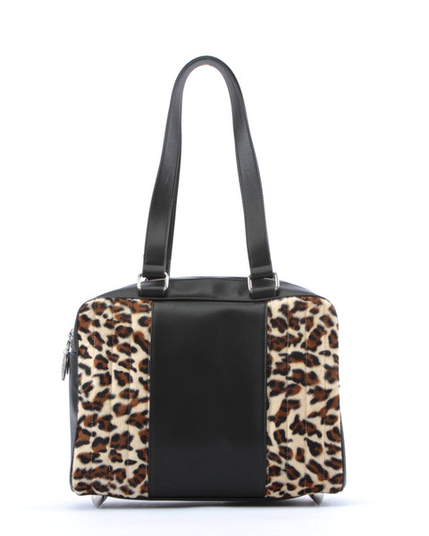 Carry All Tote Matte Black and Leopard - Mini Atomic Totes