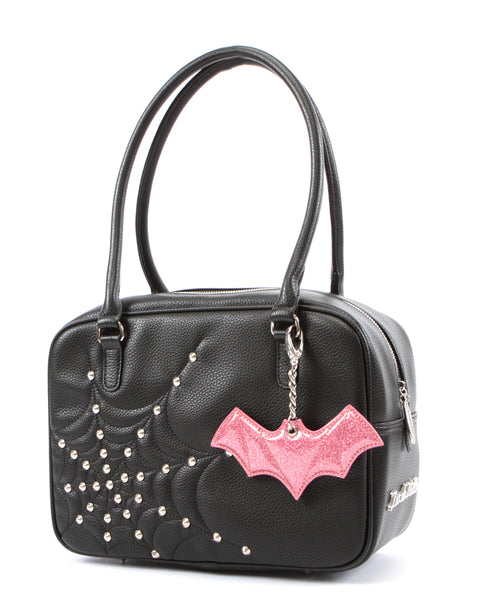 Evil Garden Tote with Pink Bubbly Bat Bauble - Mini Atomic Totes