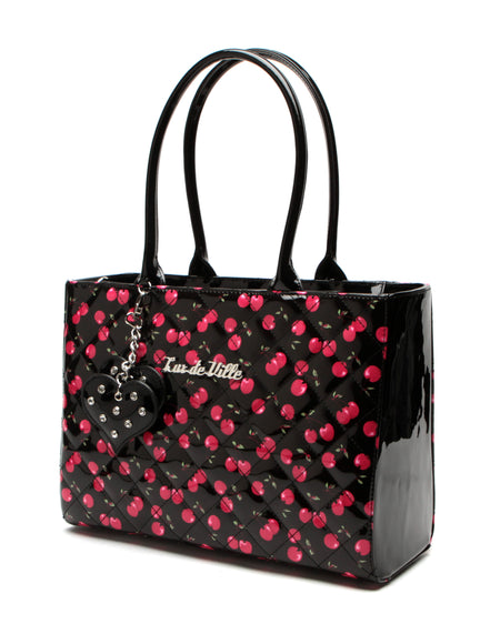Cosmic Tote Small Black and Gold Sparkle