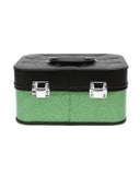 Elvira Vanity Case Black Matte Green Envy Sparkle