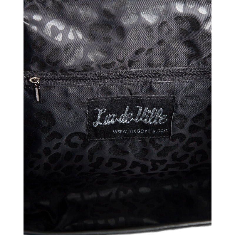 Wicked Saddle Bag Black Matte with Champagne Sparkle - Mini Atomic Totes