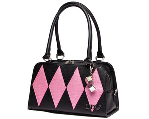 Bashful Blush & Black Matte High Roller Tote - Mini Atomic Totes