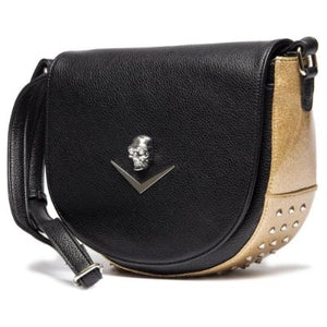 Wicked Saddle Bag Black Matte with Champagne Sparkle