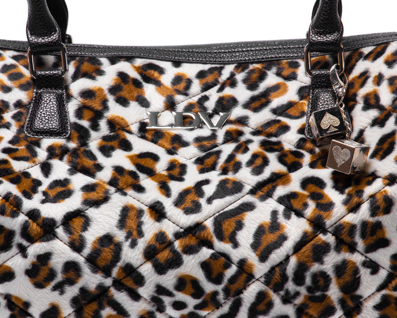 Leopard Medium Valentine Tote - Mini Atomic Totes