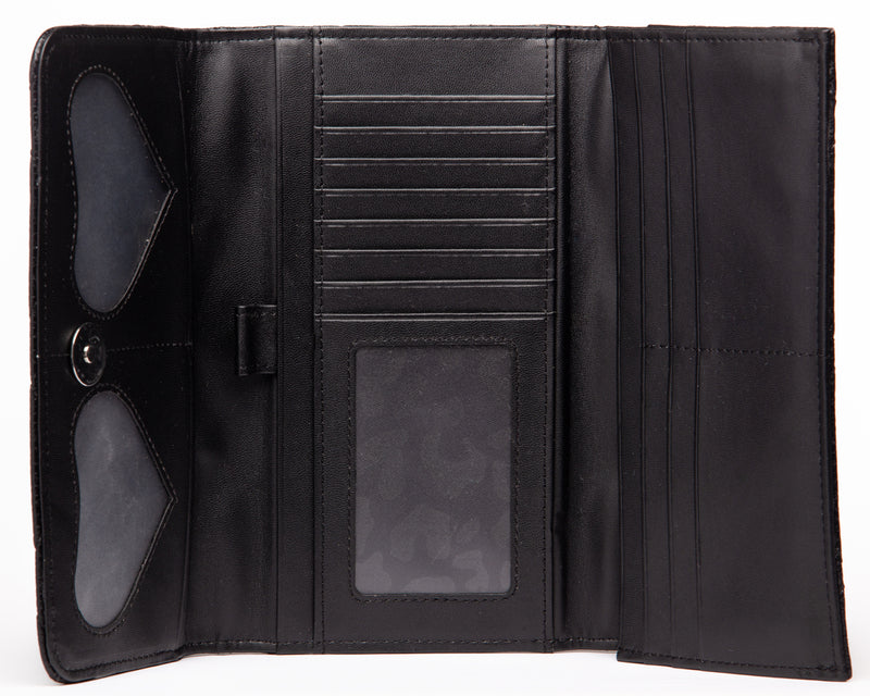 Black Matte Route 66 Wallet