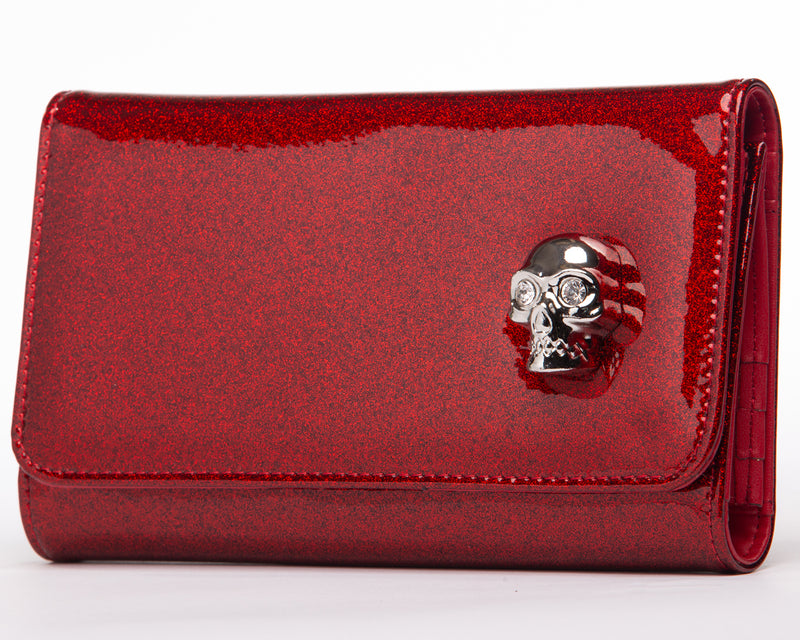 Crimson Red Sparkle Lady Vamp Wallet