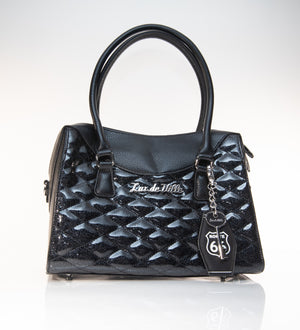 Route 66 Handbag Tote Black and Midnight Sparkle - Mini Atomic Totes