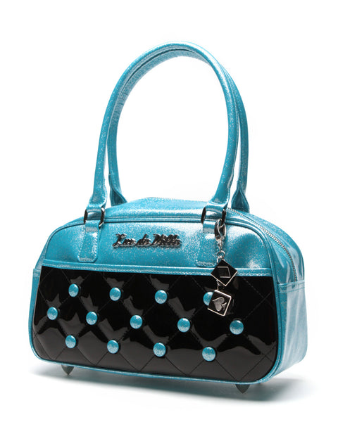 Cosmic Tote Small Black and Blue Sparkles - Mini Atomic Totes
