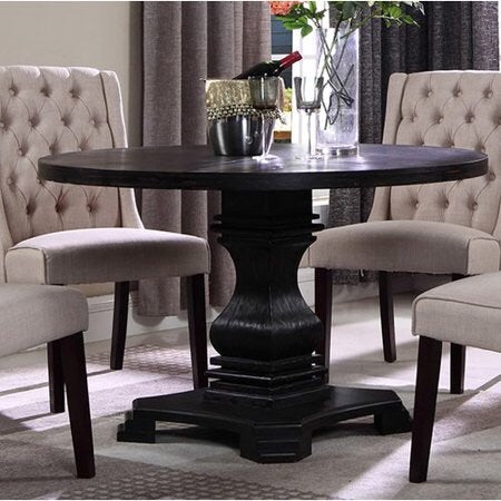Best Master Antique Black Pedastal Dining Table Only
