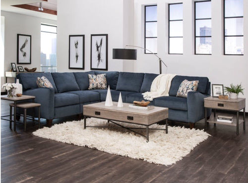William Double Power Reclining Sectional Sofa