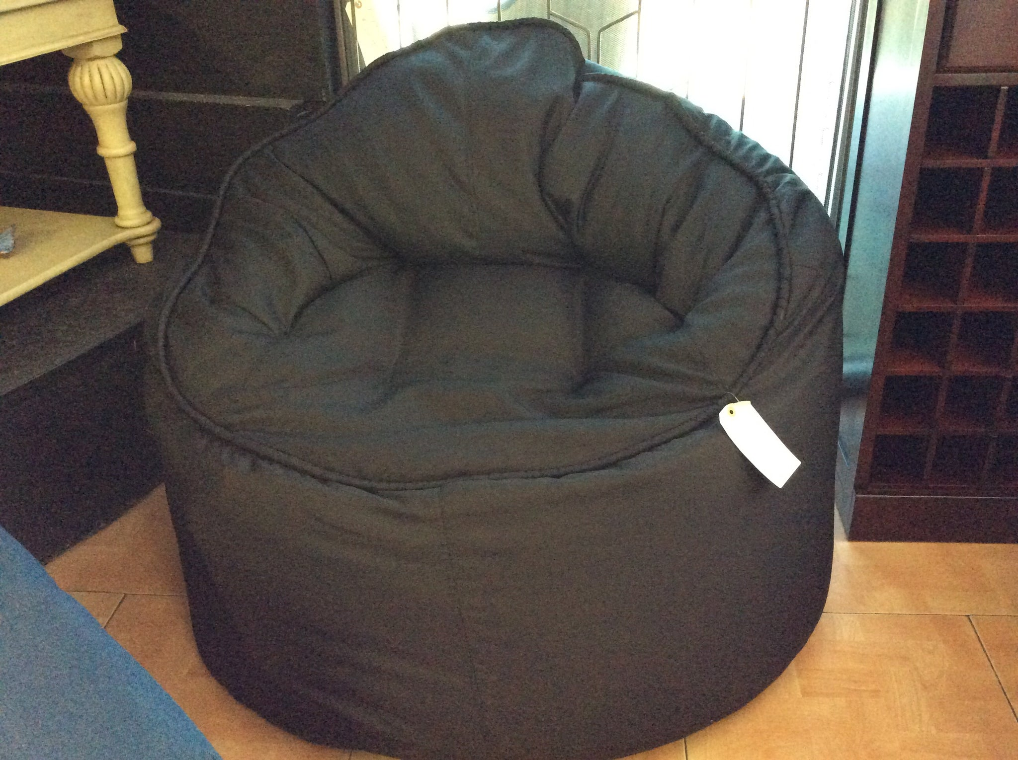 p vinyl max product mzcb beanbag home chair en image black hardware