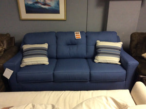 Aldie Nuvella Blue Sofa by Benchcraft