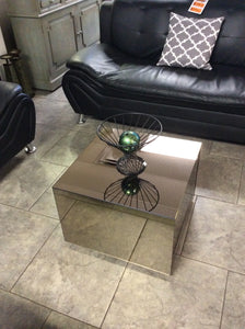 Smoked Mirror Cube Side or Coffee Table