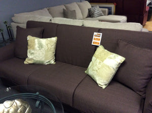 7ft Brown Futon Sofa