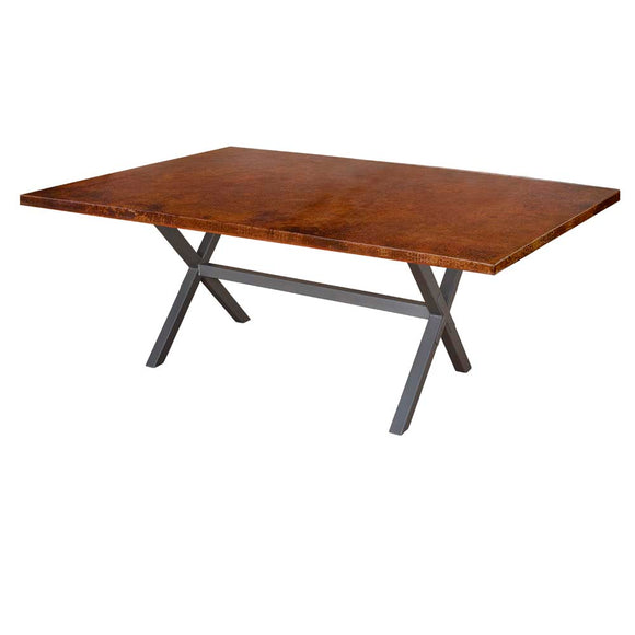 X Brace Rectangle Dining Table