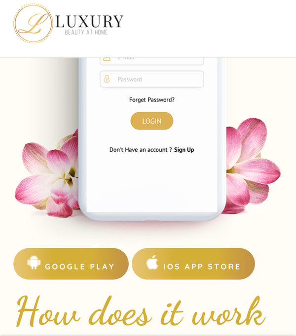 Luxury Beauty At Home app is live on IOS!