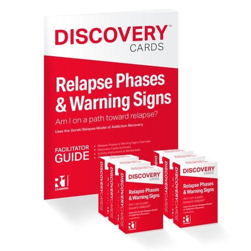 Relapse Phases & Warning Signs Group Kit — 6 decks