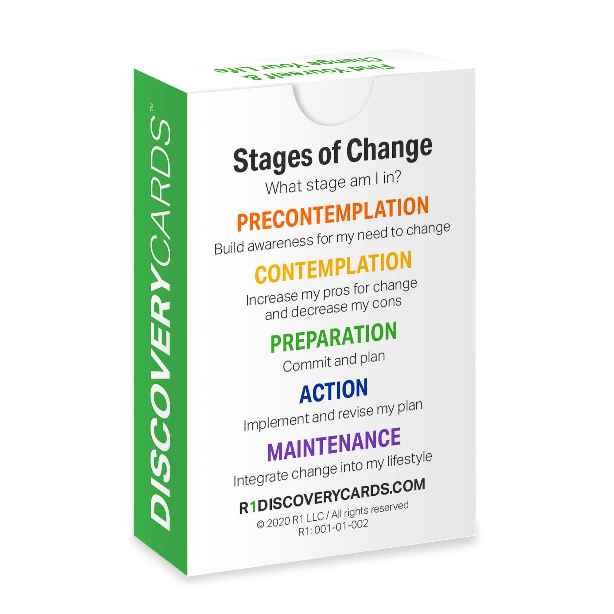 Stages of Change Discovery Cards Deck / CCAPP Consumer Packet for CE