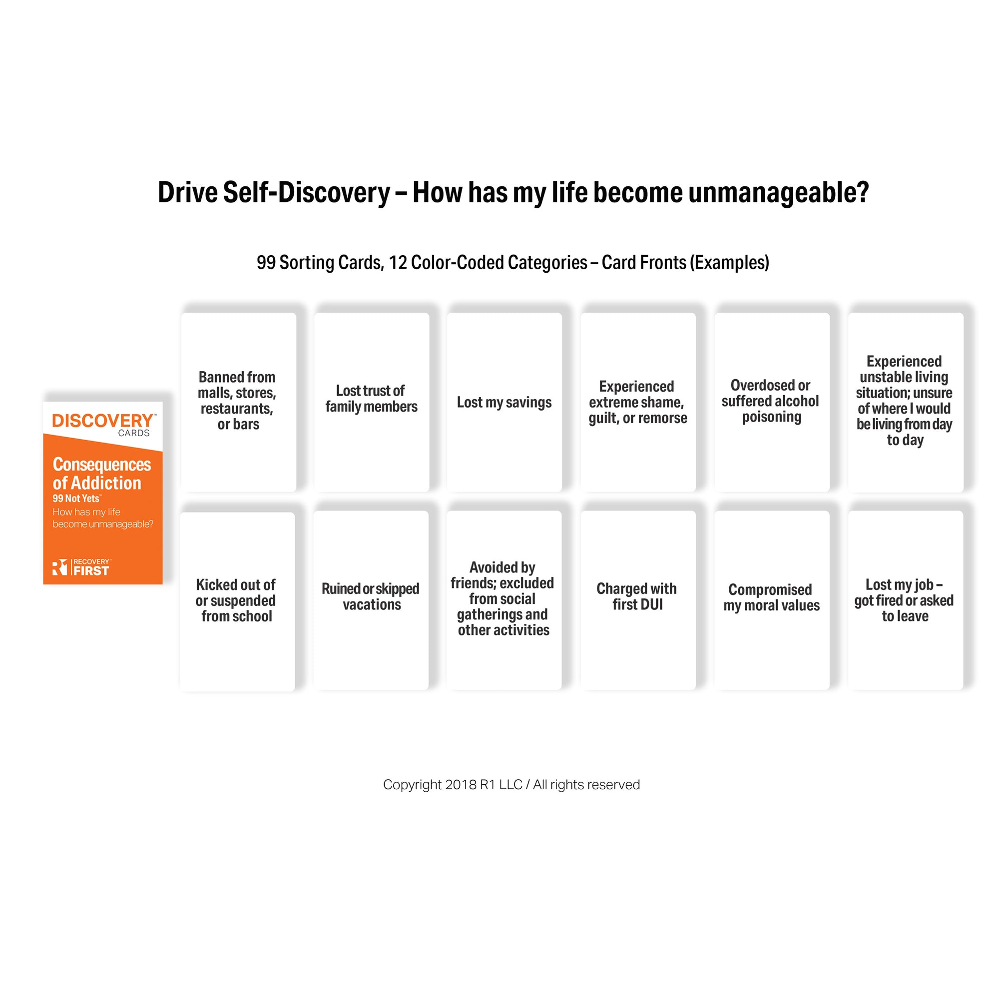 Consequences of Addiction Discovery Cards Deck