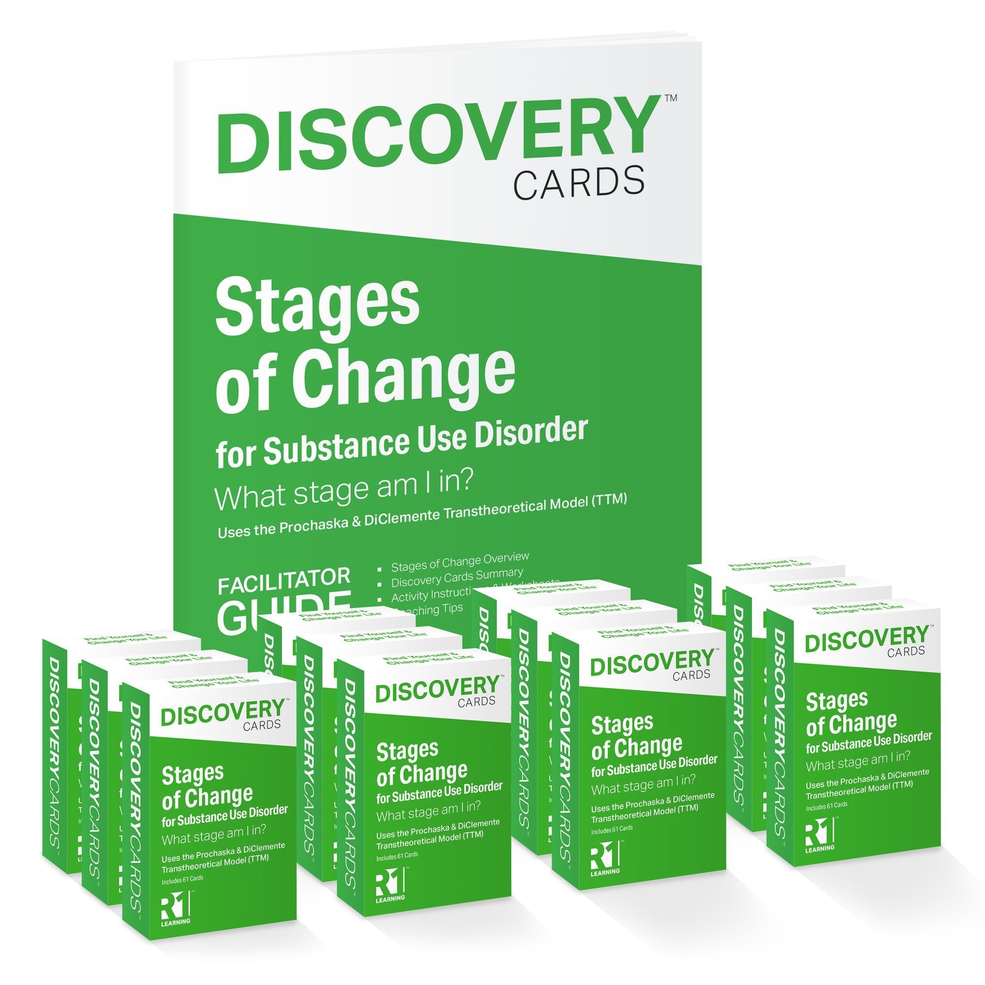 Stages of Change in Addiction Recovery Group Kit — 12 decks